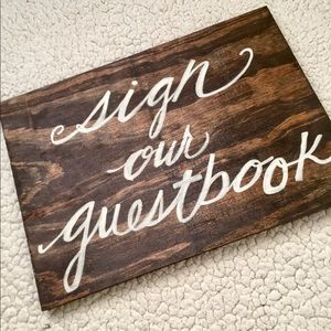 'Sign our guestbook' wedding sign